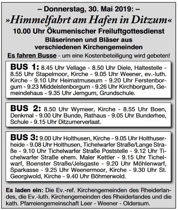 (C) Rheiderland-Zeitung am 24.05.2019