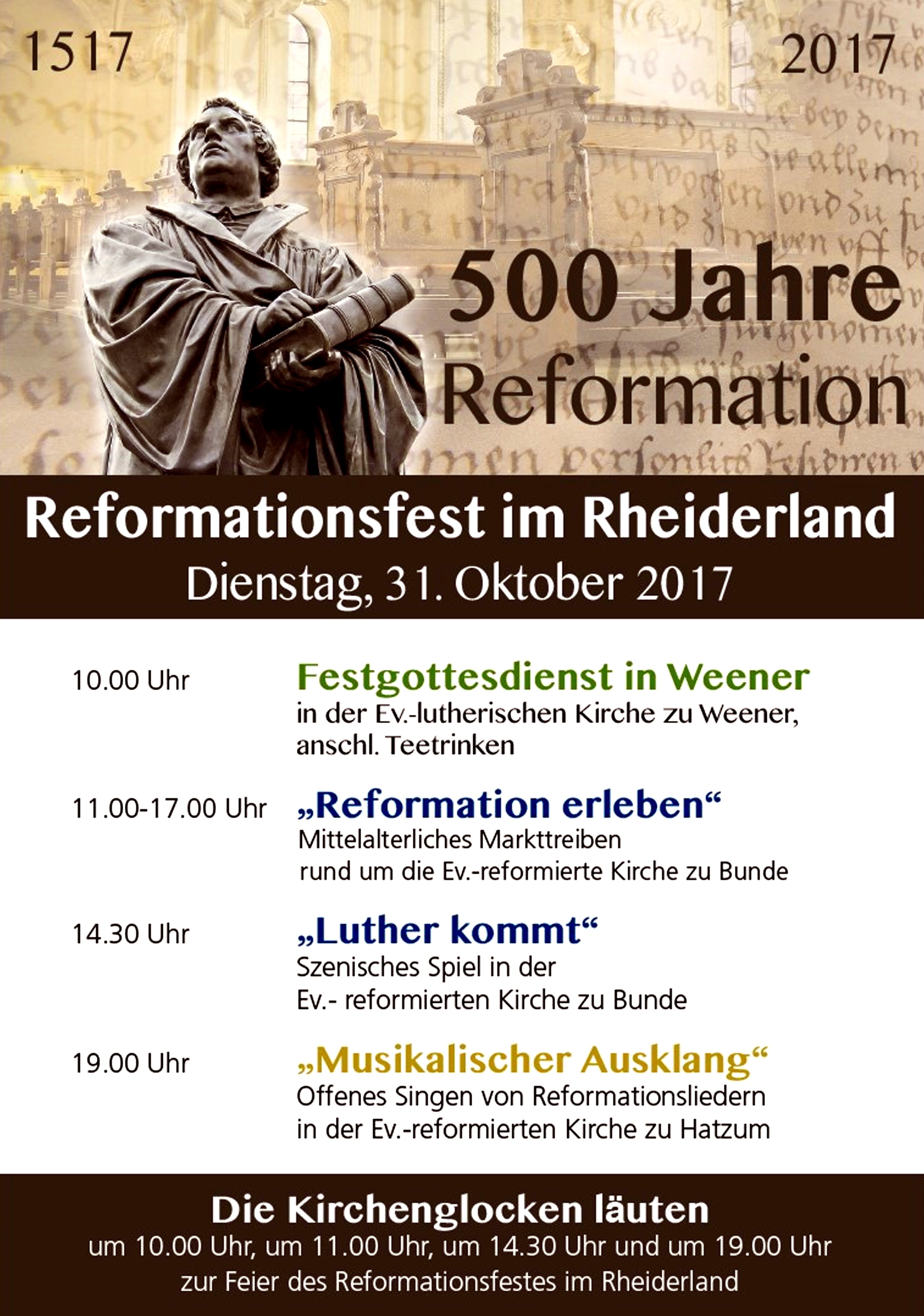 Reformationstag Bunde 2017