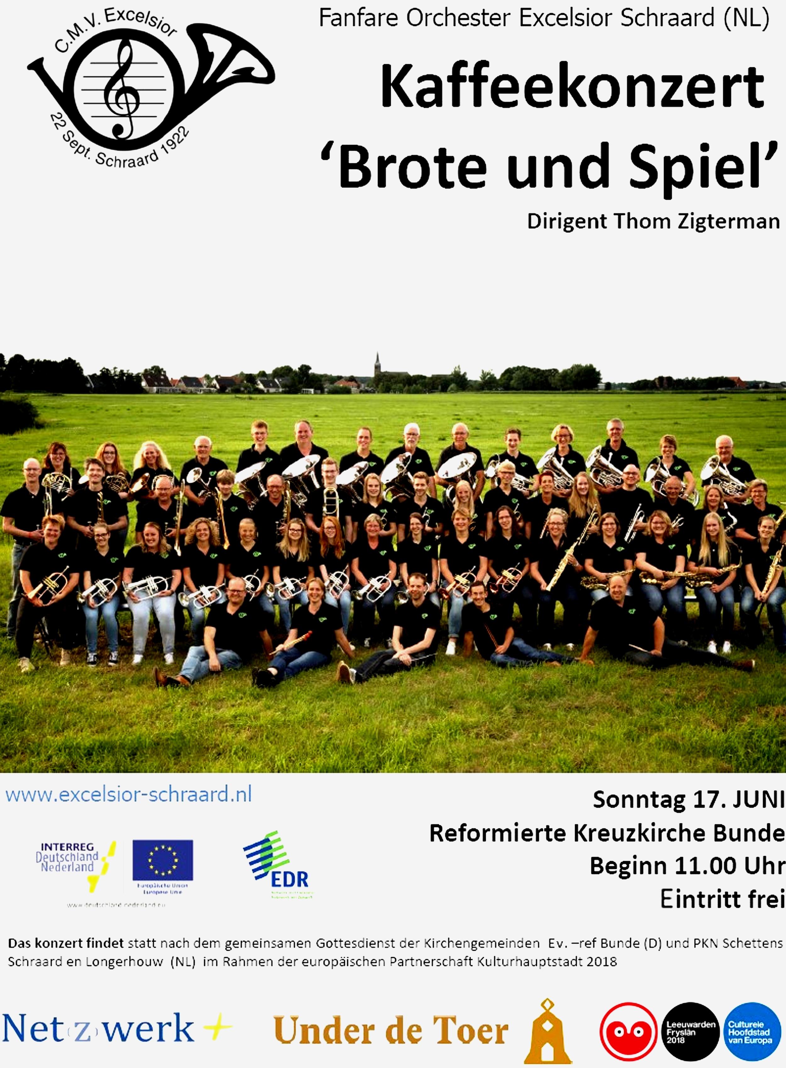 """""""Brote und Spiel""""-Konzert am 17.06.2018"""